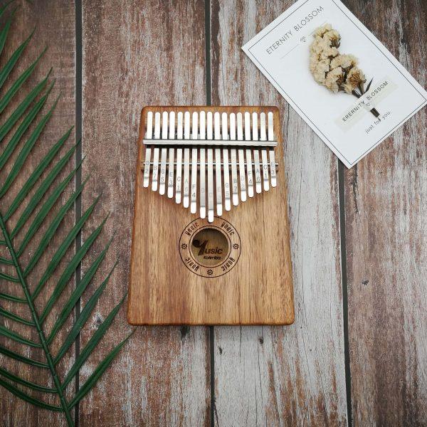 kalimba 17 key resonant box acacia wood