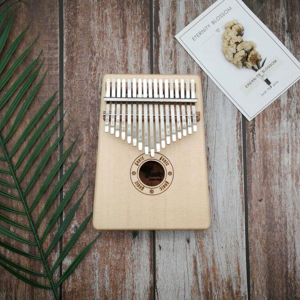 kalimba 17 key resonant box spruce mix sapele wood
