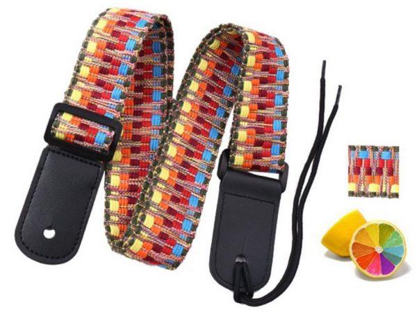 ukulele strap rainbow weave