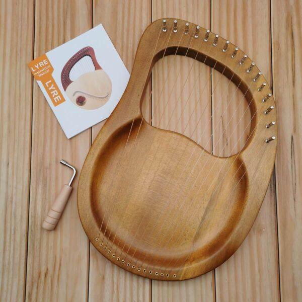 16 strings lyre harp flat board ori